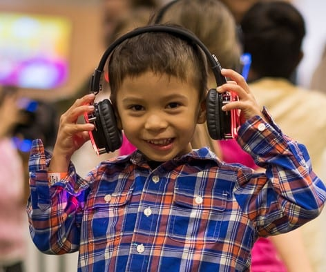 Silent disco headphones hire